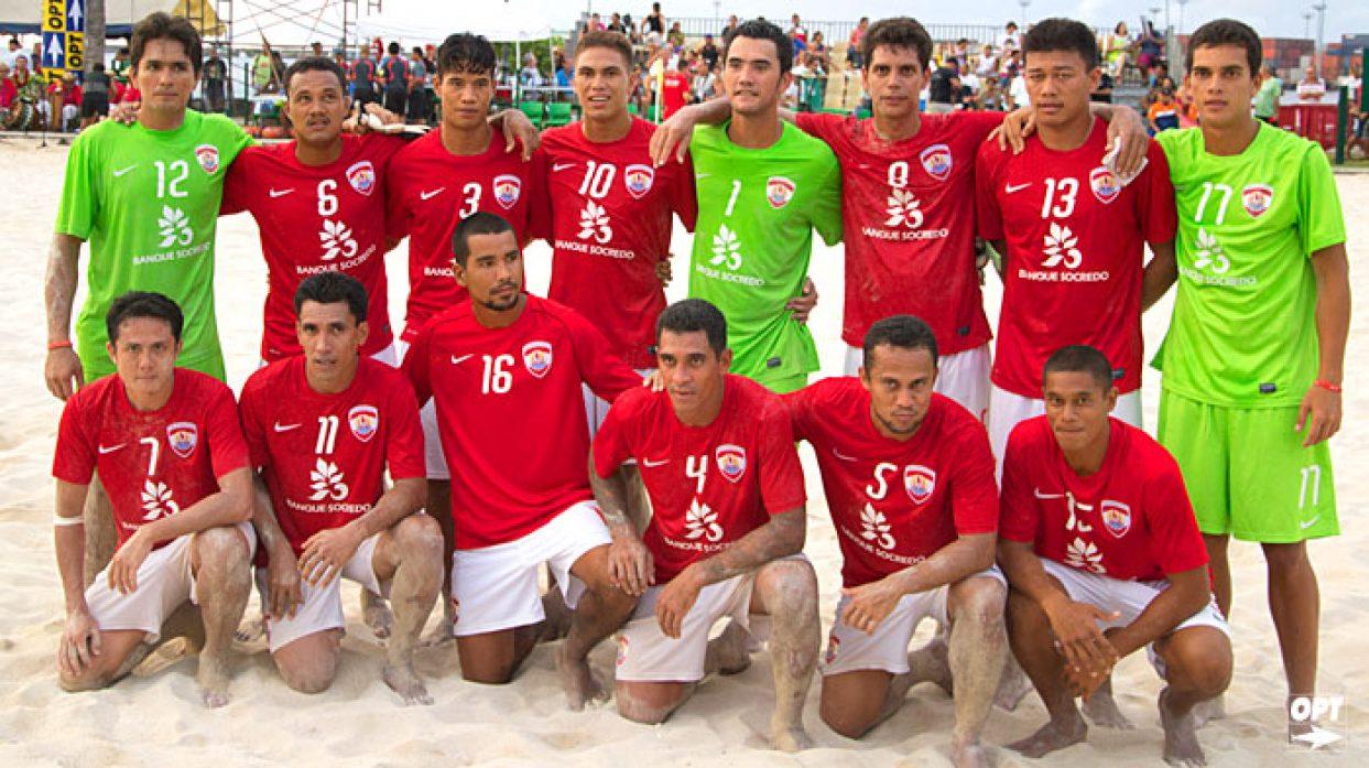 Beach soccer : les Tiki Toa face à la Suisse