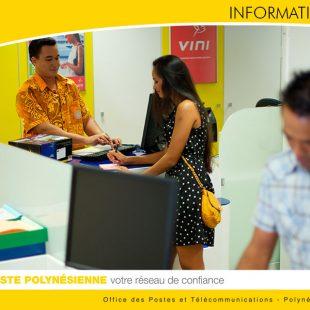 Fermeture exceptionnelle  de la Poste de PUNAVAI – Punaauia ainsi que l'Annexe de Moana-Nui – Carrefour