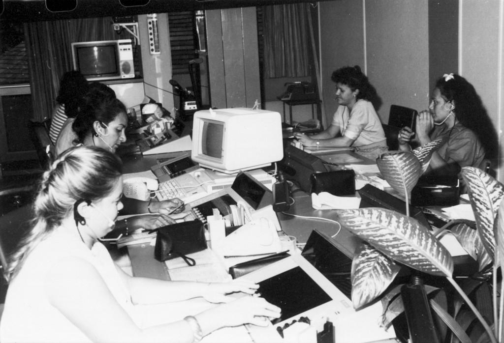 Des standardistes à la fin des années 80