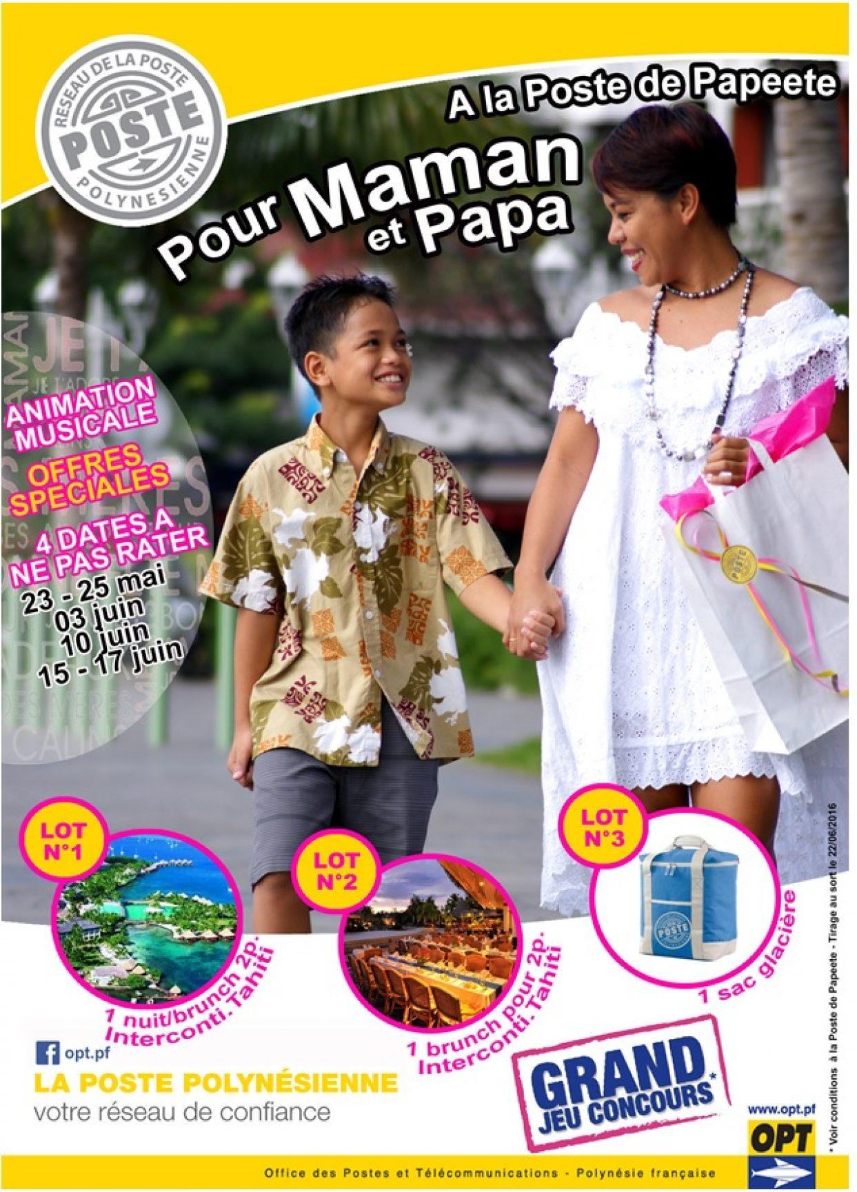 La Poste de Papeete fête les mères et les pères !