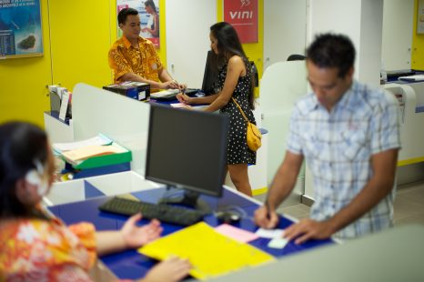 Communication de tous les établissements bancaires et financiers de Polynésie Française