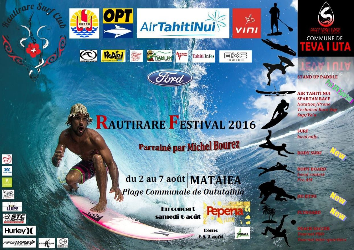 L'OPT prend la vague du Rautirare Surf Festival 2016