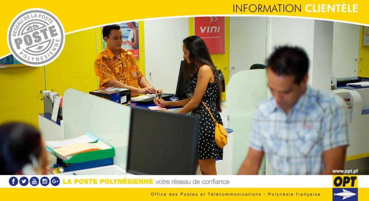 INFORMATION CLIENTÈLE | Poste Principale de Papeete