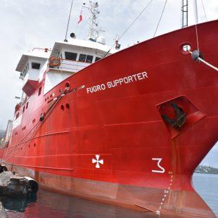 NATITUA : Arrivée du navire de Survey FUGRO SUPPORTER