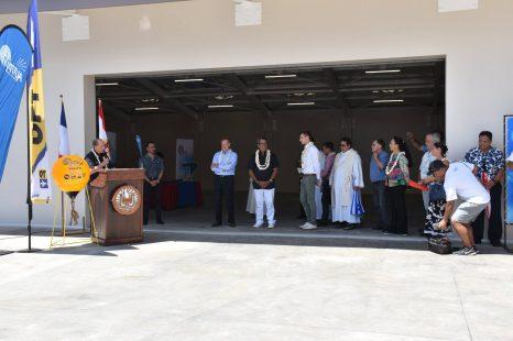 Inauguration de la station terminale #NATITUA et des espaces de stockage des câbles sous marins de Hitia'a o Te ra