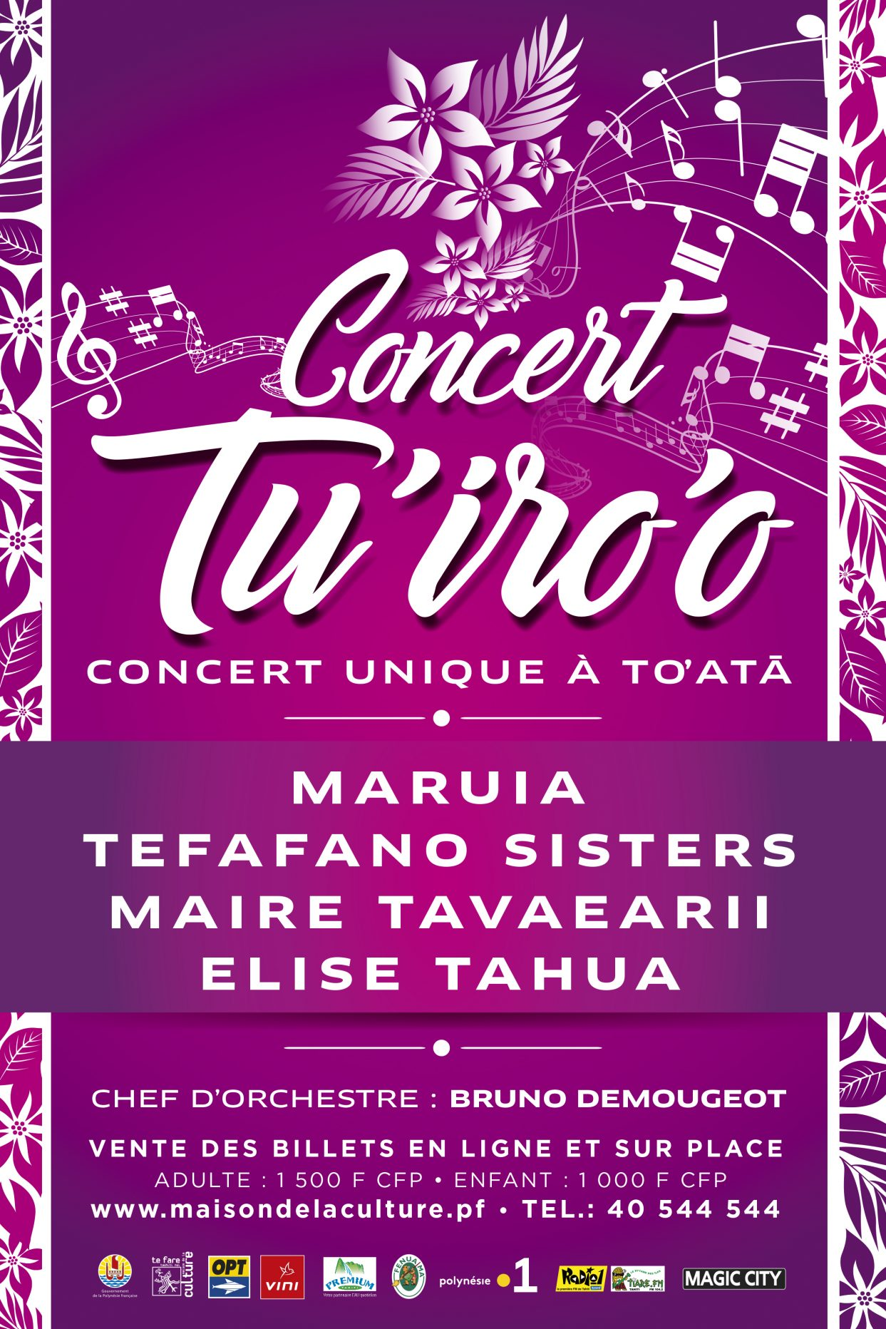 Le Groupe OPT partenaire de la première édition du concert TU'IRO'O