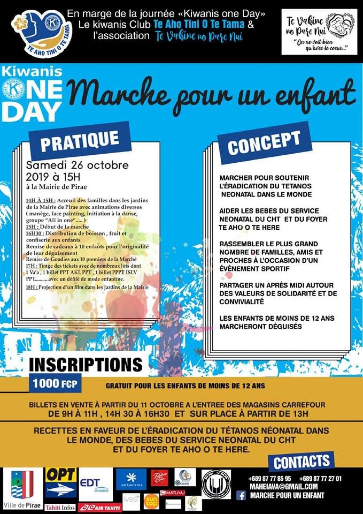 """L'OPT partenaire de la première édition """"Marche pour un enfant"""""""