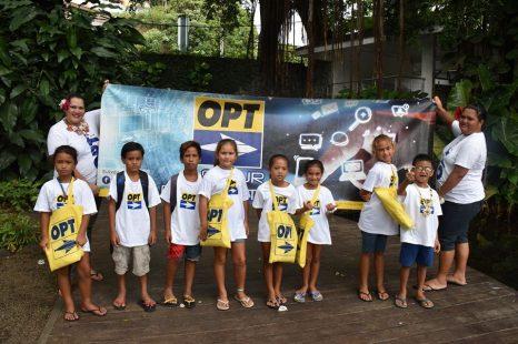 Le Groupe OPT accompagne les élèves 🧒 de CE1A de l'école primaire de Hao