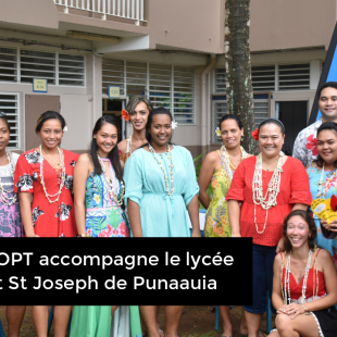 Le Groupe OPT accompagne le lycée polyvalent St Joseph de Punaauia