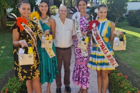 La nouvelle Miss Tahiti à la présidence du Groupe OPT